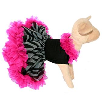 Zebra Print Dog Tutu Costume