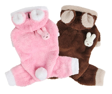 Pink Or Brown Easter Bunny Dog Costume