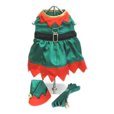 Elf Girl Dog Costume
