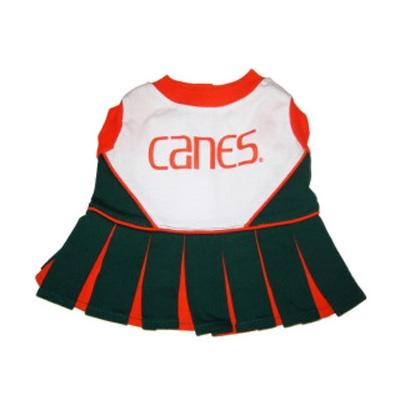 Miami Hurricanes Dog Cheerleader Costume