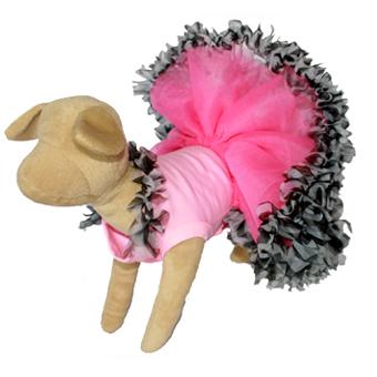 Pinkie Zebra Dog Tutu