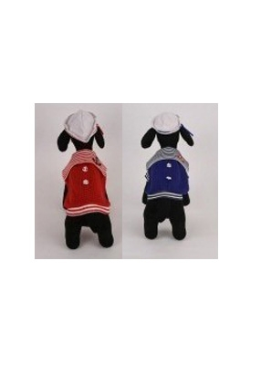 Red or Blue Sailor Dog Costumes