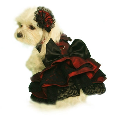 Burgundy Scarlett O'Hara Dog Dress Costume
