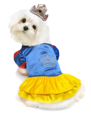 Snow White Inspired Princess Dog Costume