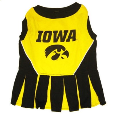 Iowa Hawkeyes Dog Cheerleader Costume