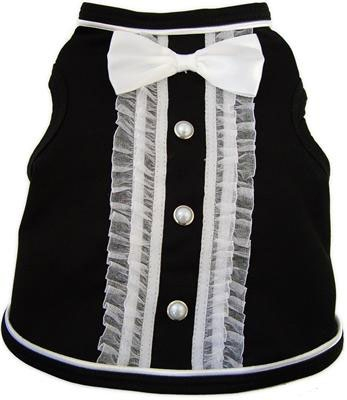 Black Dog Tuxedo Dog Shirt Costume