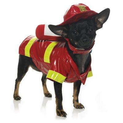 Fireman Halloween Dog Costume
