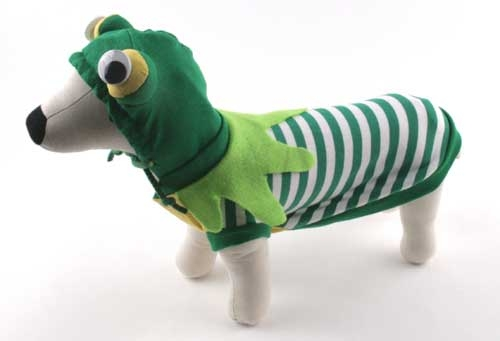 Striped Frog Dog Costume