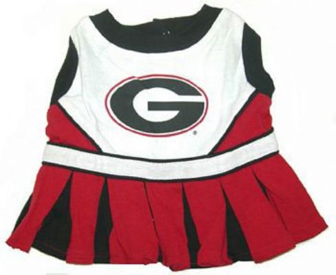 Georgia Bulldogs Dog Cheerleader Costume