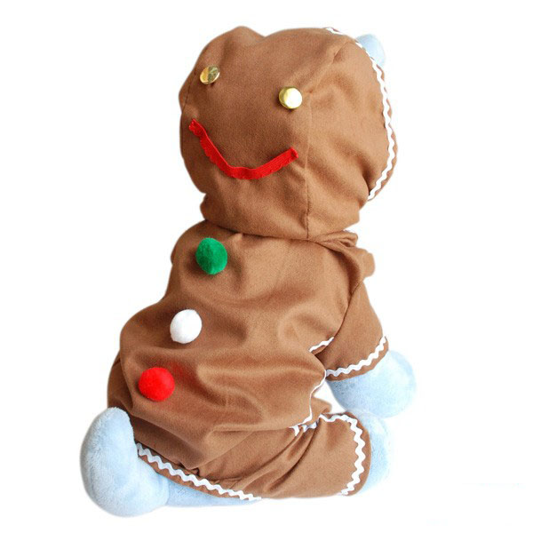 Gingerbread Man Dog Costume - Big Dog Costumes : Costumes For Large Dogs : XXL, 3XL, 4XL Dog Costumes