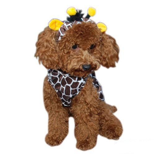 Giraffe Halloween Dog Costume