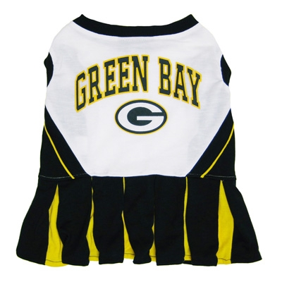 Green Bay Packers Cheerleader Dog Costume Dress