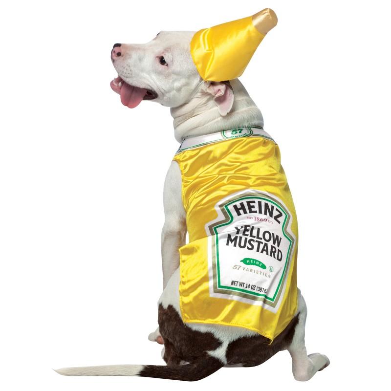 Heinz Mustard Halloween Dog Costume
