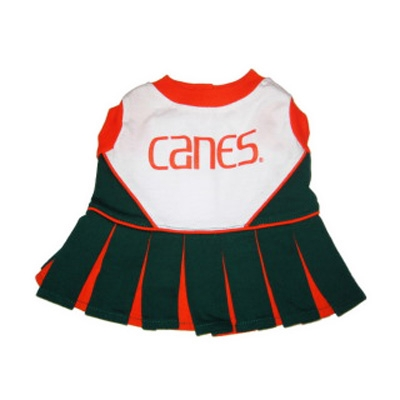 Miami Hurricanes Dog Cheerleader Costume