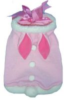 Pink Satin Bunny Dog Costume Suit