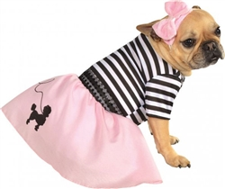 50's Poodle Girl Costume For Dogs