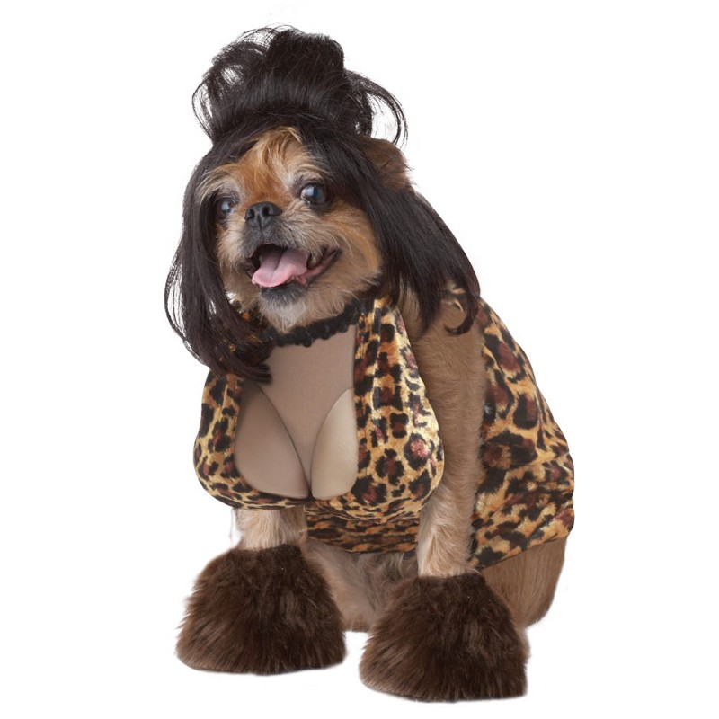 Prostitute Snooki Halloween Dog Costume With Fake BOOBS