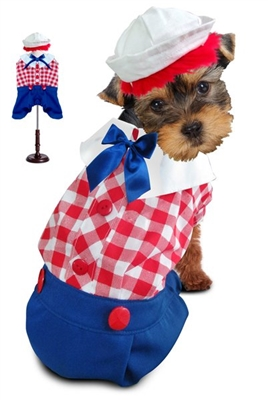 Raggedy Andy Halloween Dog Costume