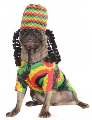 Rasta Jamaican Costume For Dogs