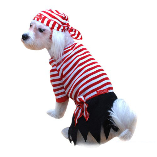 Striped Pirate Halloween Dog Costume