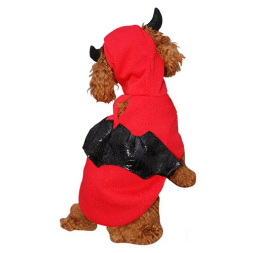 Red Devil Bat Dog Costume