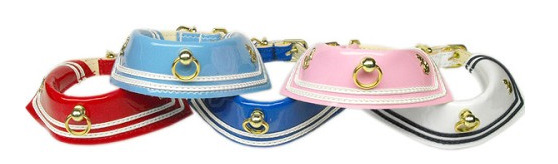 Sailor Patent Leather Dog Collar