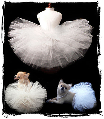 White Wedding Dog Tutu