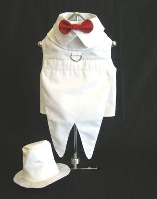 White Dog Tuxedo Costume